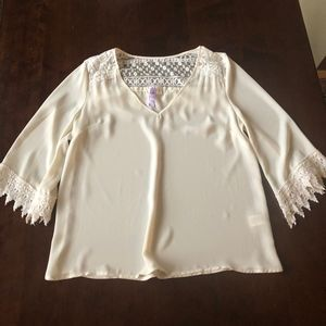 Sheer Cream Blouse